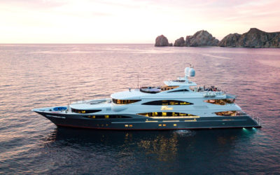 Modern yacht design on Tsumat yacht is the ultimate elegance